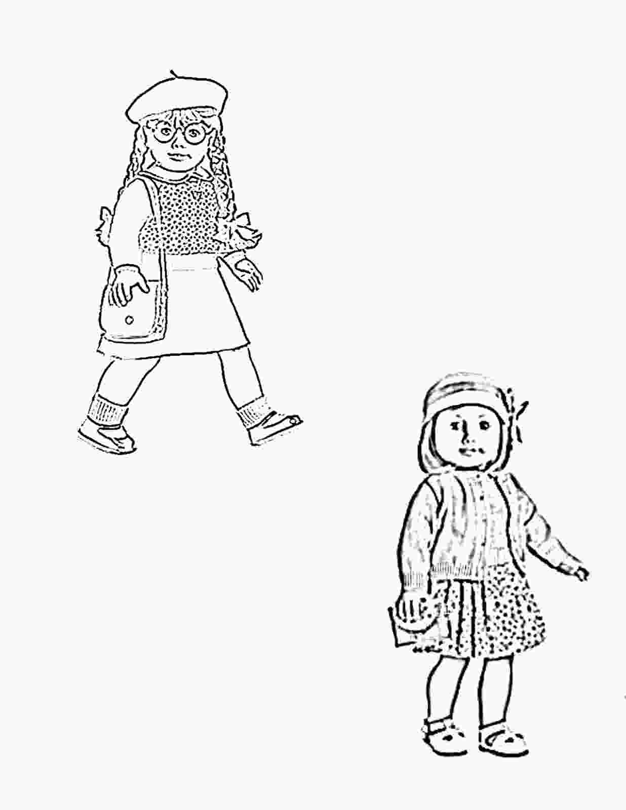 girl coloring american girl doll coloring pages to download and print