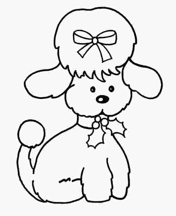 girl dog coloring pages cute female dog coloring page download amp print online