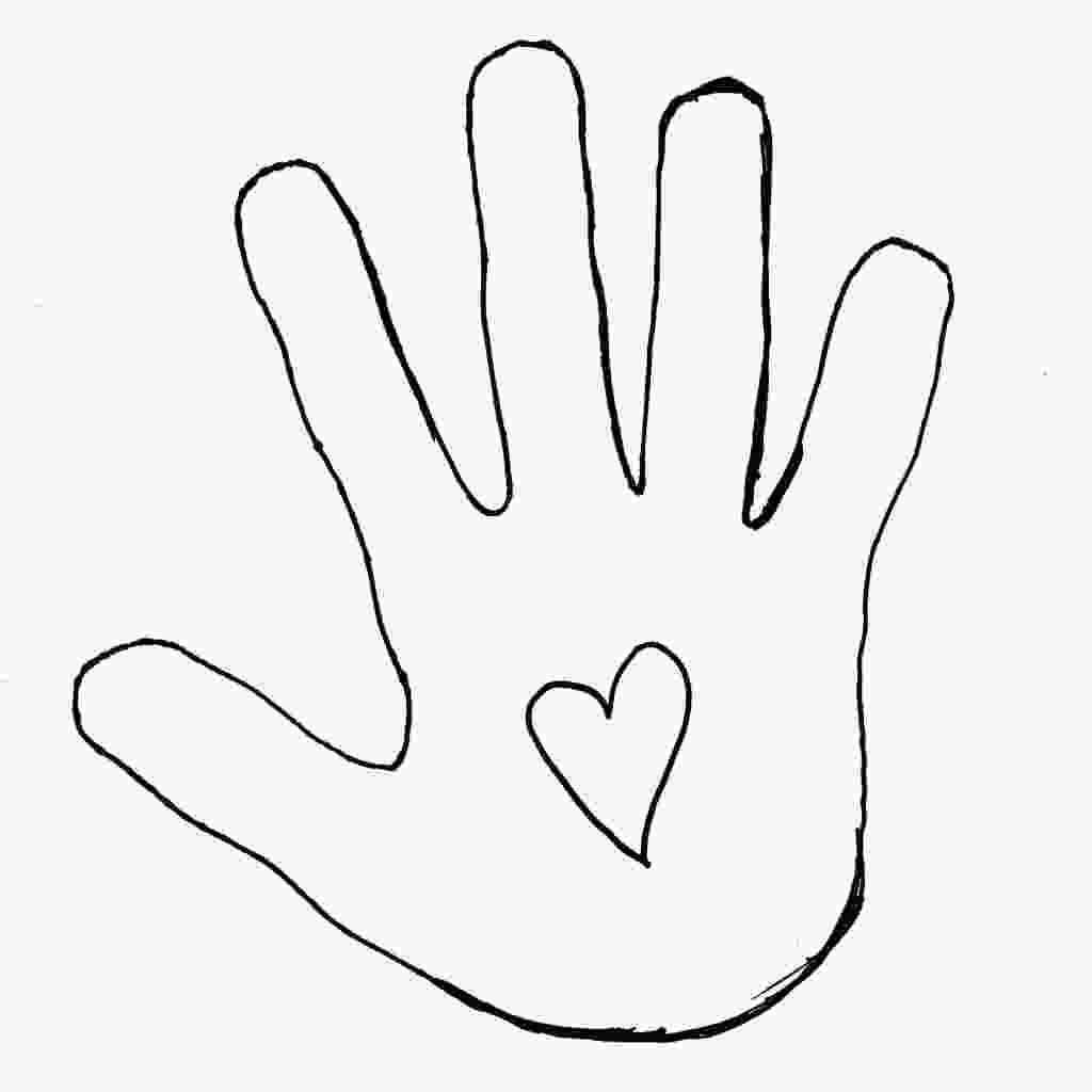 hand coloring clipart best hand outline 2693 clipartioncom