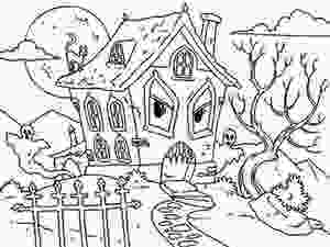 haunted houses coloring pages 45 best halloween coloring pages images on pinterest