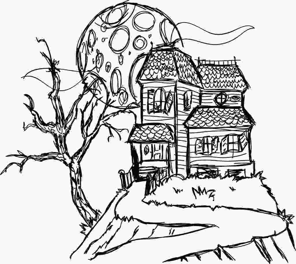 haunted houses coloring pages free printable haunted house coloring pages for kids 1