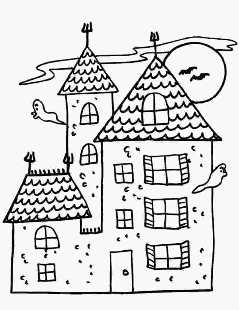haunted houses coloring pages free printable haunted house coloring pages for kids