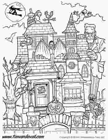 haunted houses coloring pages haunted house coloring page tims printables