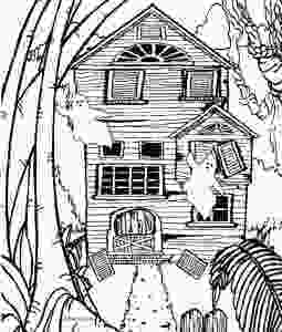 haunted houses coloring pages printable haunted house coloring pages for kids cool2bkids 1