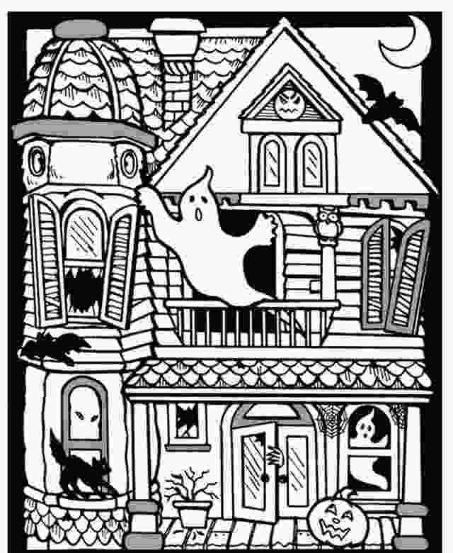 haunted houses coloring pages scary haunted house coloring pages download and print for free