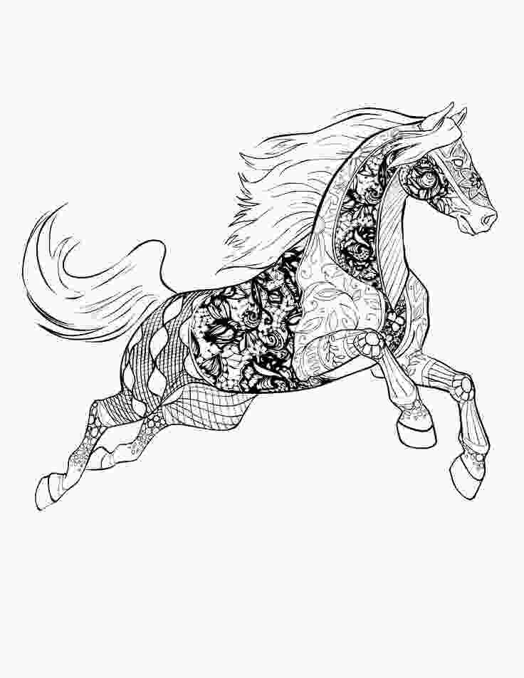 horse coloring books horse free download selah works adult colouring