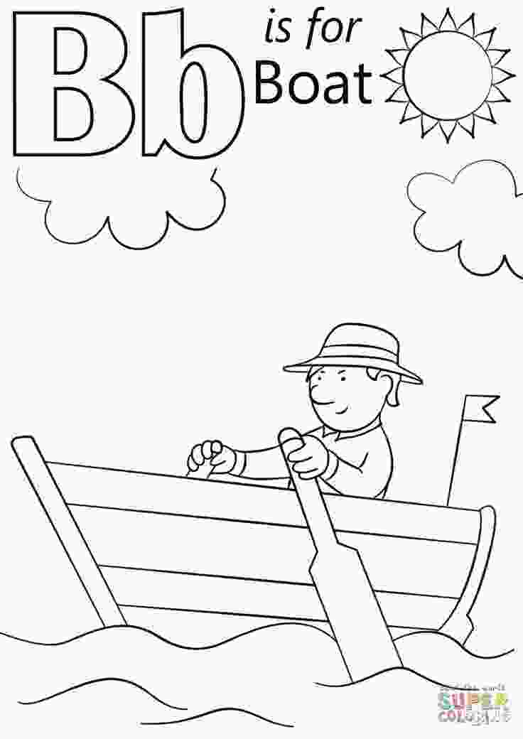 kindergarten alphabet coloring pages letter b is for boat coloring page free printable