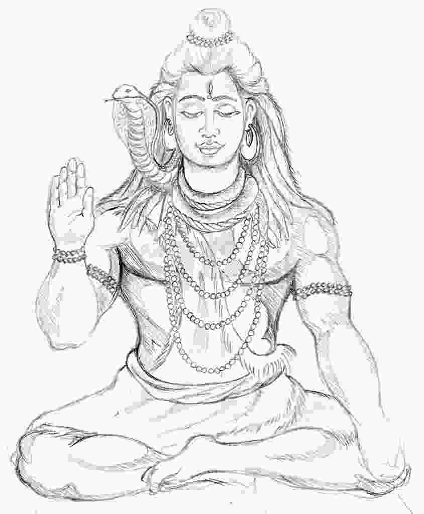 lord shiva drawing pictures shiva drawing at getdrawingscom free for personal use