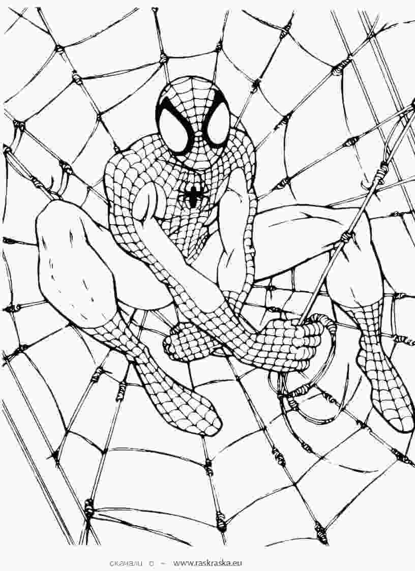man coloring pages free printable spiderman coloring pages for kids