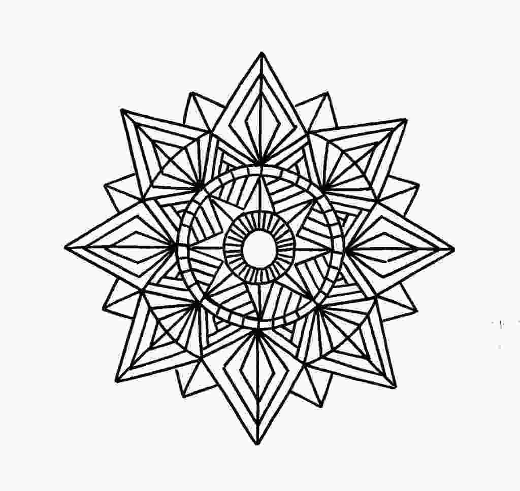 mandala patterns to color free printable geometric coloring pages for kids