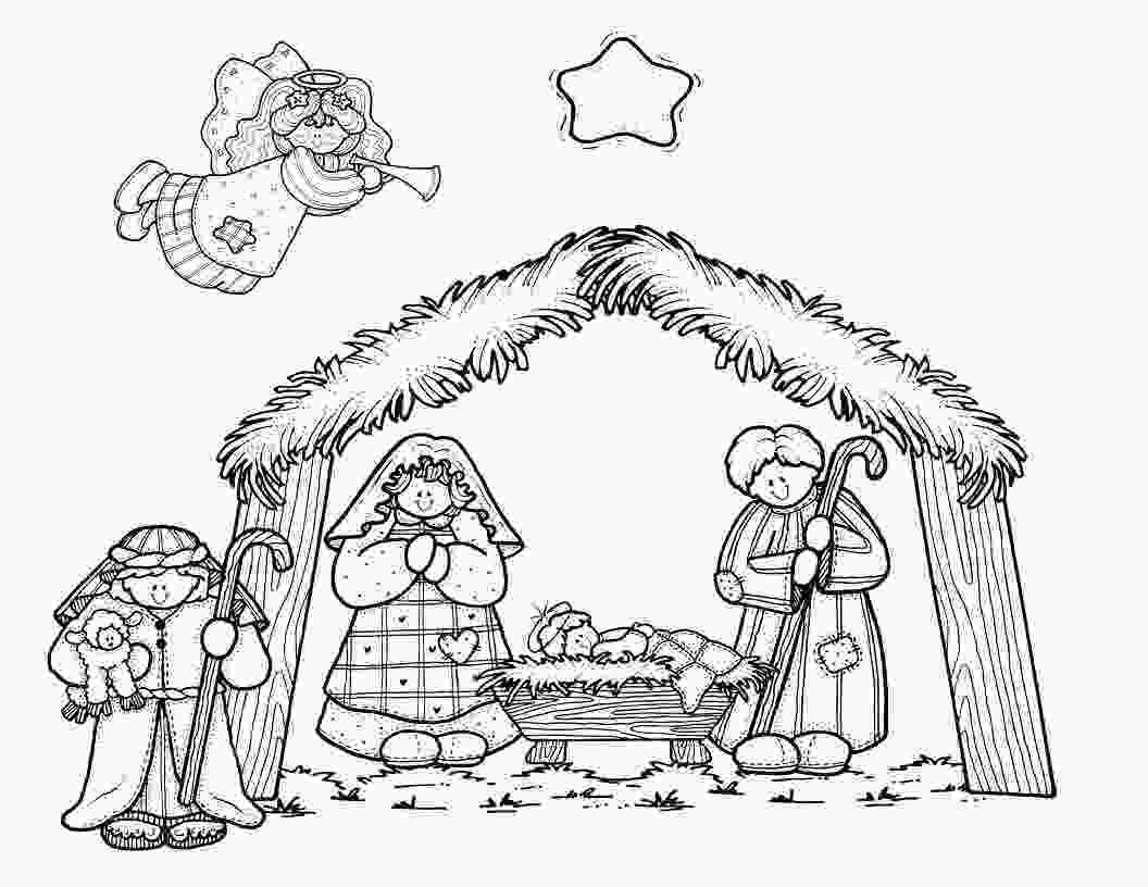 manger scene coloring page a mommy circus nativity coloring page