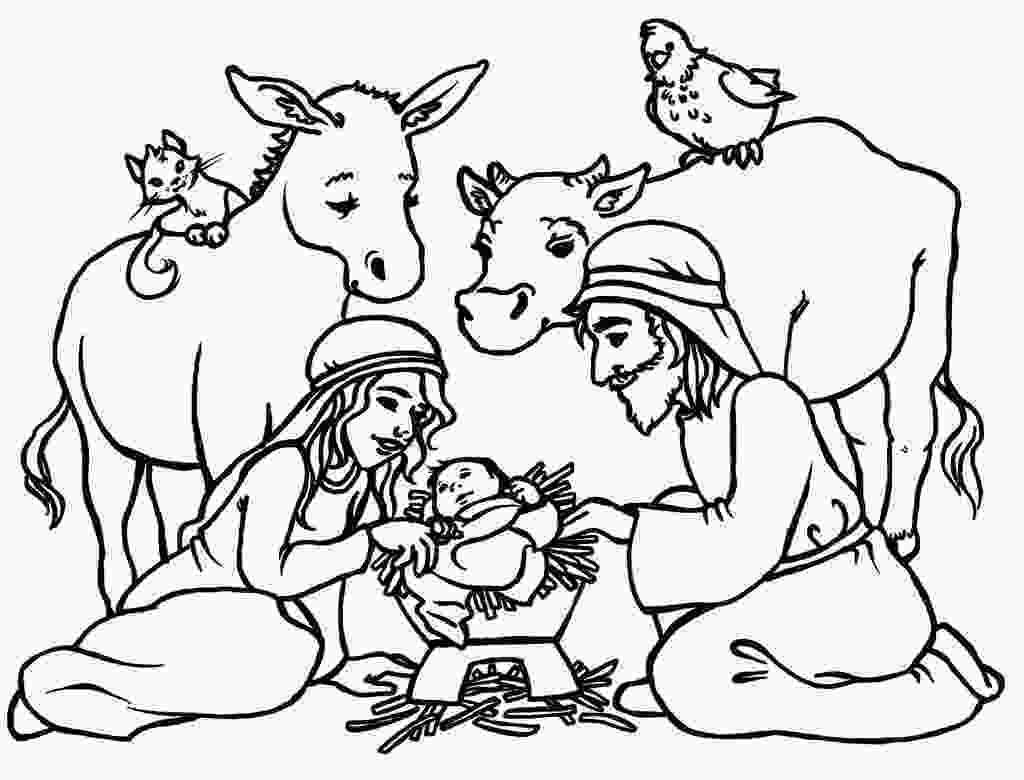 manger scene coloring page free printable nativity coloring pages for kids best 1