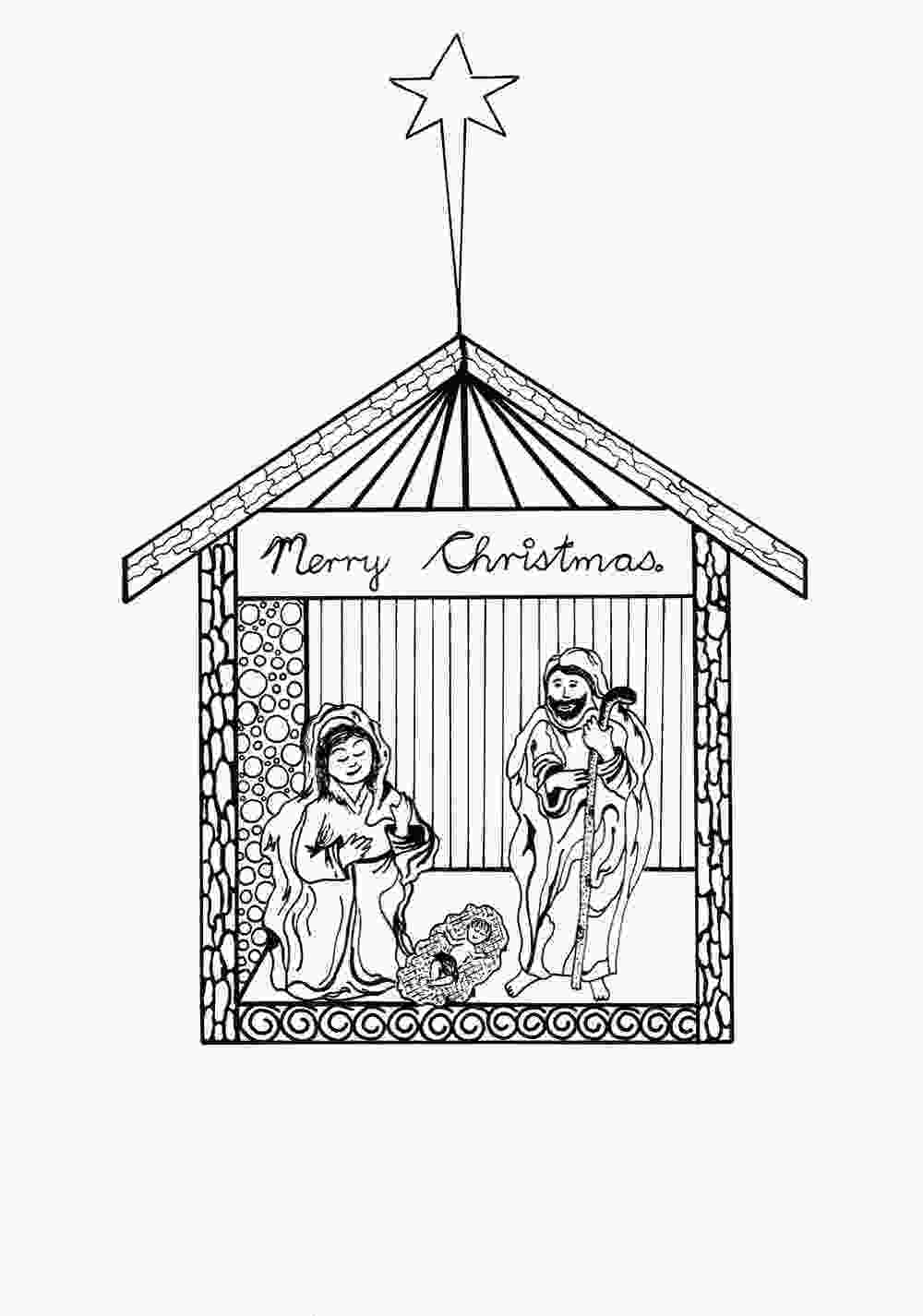 manger scene coloring page free printable nativity scene coloring pages