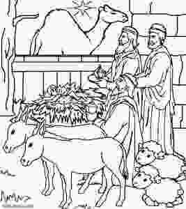 manger scene coloring page printable nativity scene coloring pages for kids cool2bkids 3