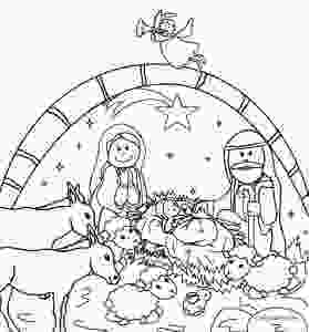 manger scene coloring page printable nativity scene coloring pages for kids cool2bkids 4