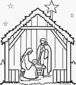 manger scene coloring page printable nativity scene coloring pages for kids cool2bkids