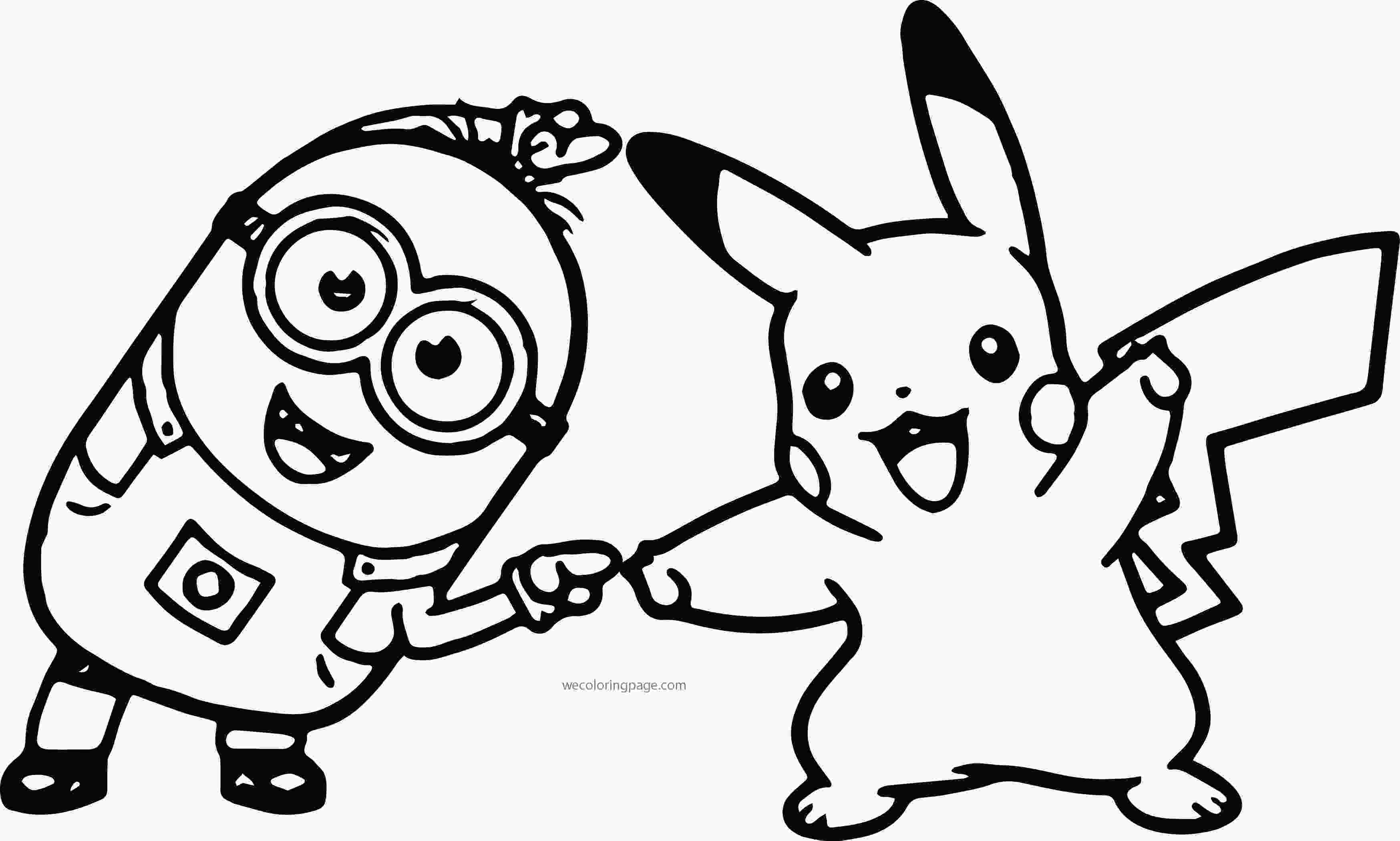 minions color minion pikachu dance pokemon coloring page