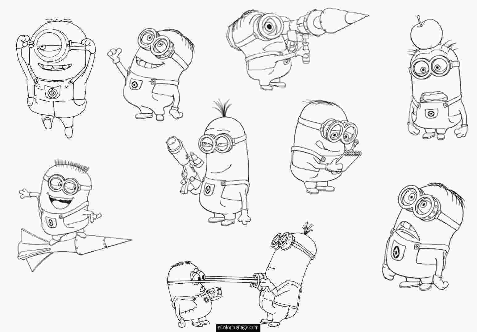 minions pdf minion coloring pages only coloring pages 2