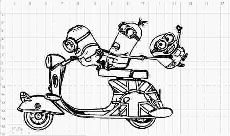 minions pdf minions scooter moped svg eps dxf pdf png cut files etsy