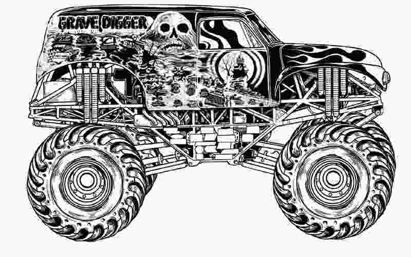 monster truck coloring pictures download grave digger monster truck coloring pages