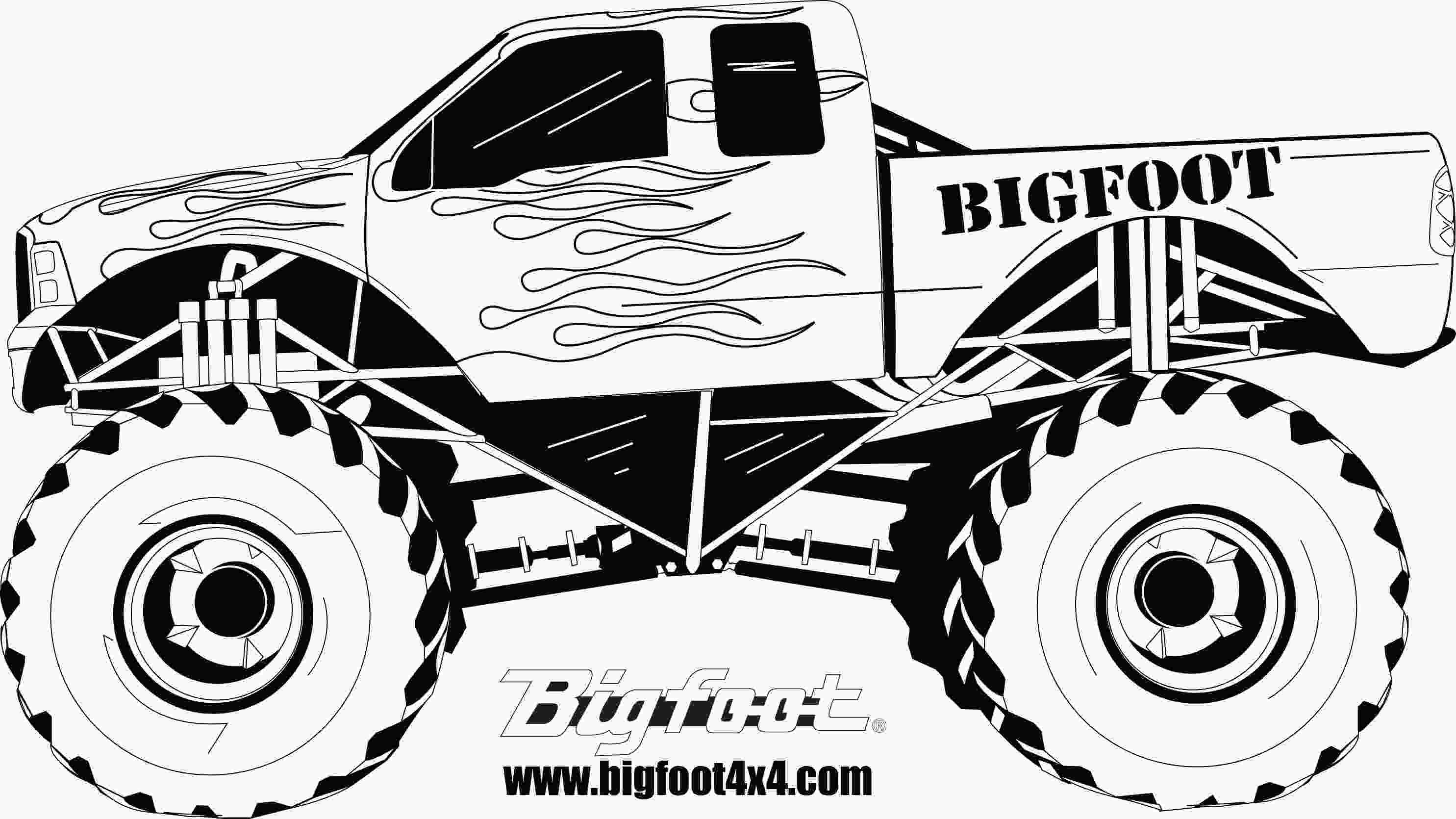 monster truck coloring pictures monster truck coloring pages 27215 bestofcoloringcom