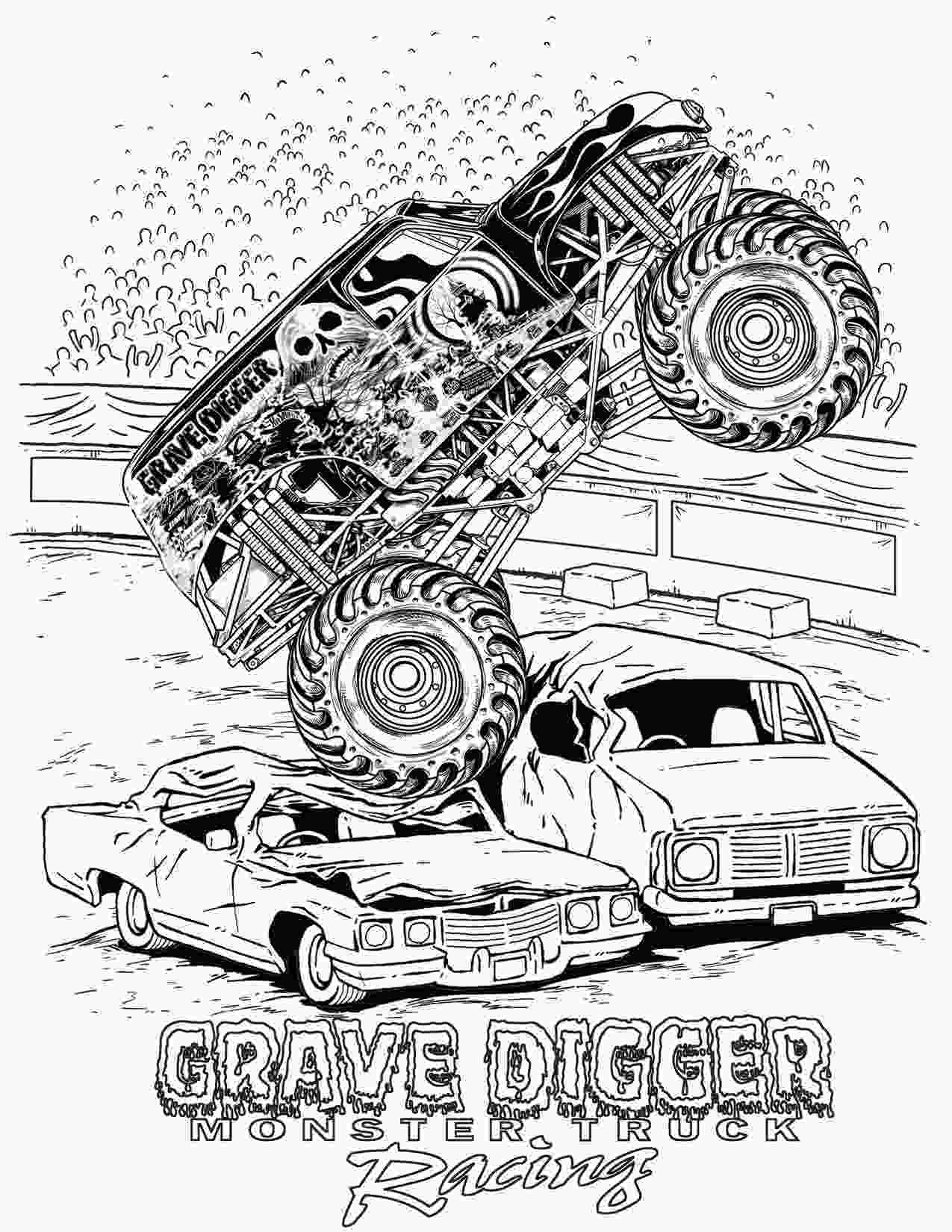 monster truck coloring pictures monster truck coloring pages letscoloringpagescom grave