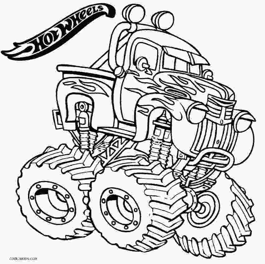 monster truck coloring pictures printable hot wheels coloring pages for kids cool2bkids