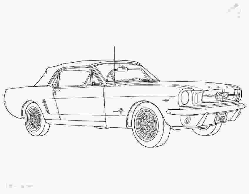 mustang car coloring pages coloringpage fordmustangcoloringpage