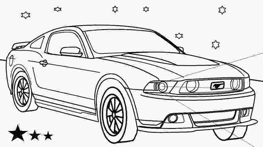 mustang car coloring pages ford mustang coloring sheet and drawing