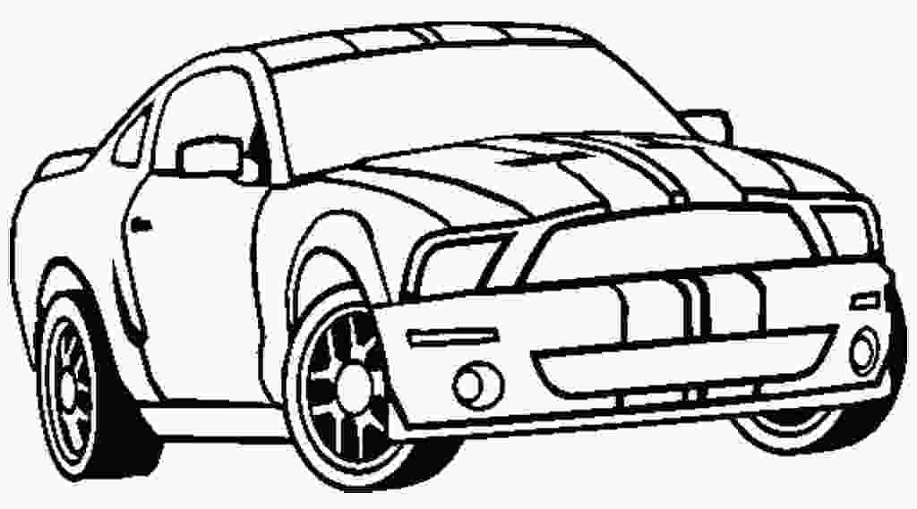 mustang car coloring pages fox body mustang drawing at getdrawingscom free for