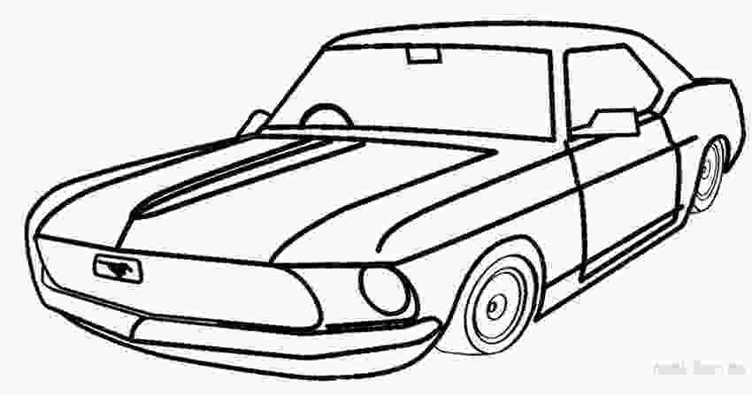 mustang car coloring pages printable mustang coloring pages for kids cool2bkids 2