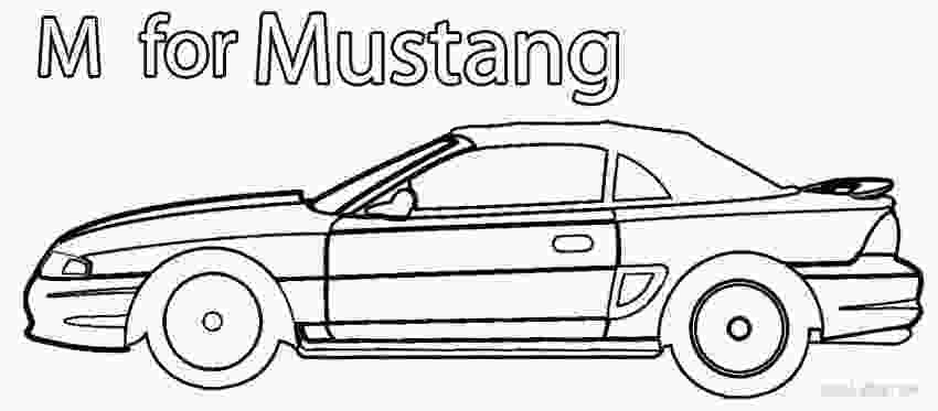 mustang car coloring pages printable mustang coloring pages for kids cool2bkids 3