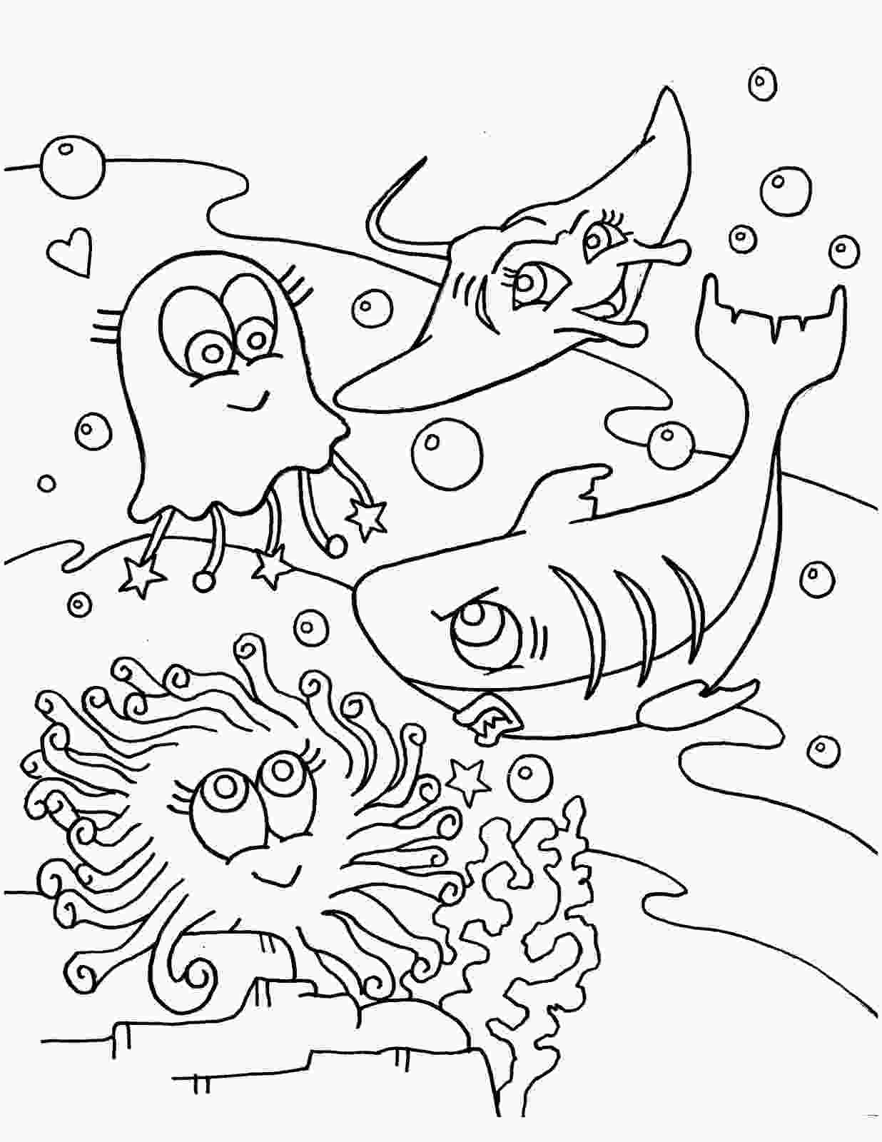 ocean sea life coloring pages free printable ocean coloring pages for kids