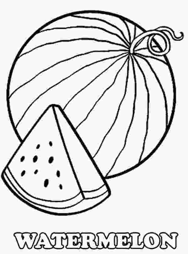 outline picture of watermelon watermelon coloring pages fruit coloring pages fall