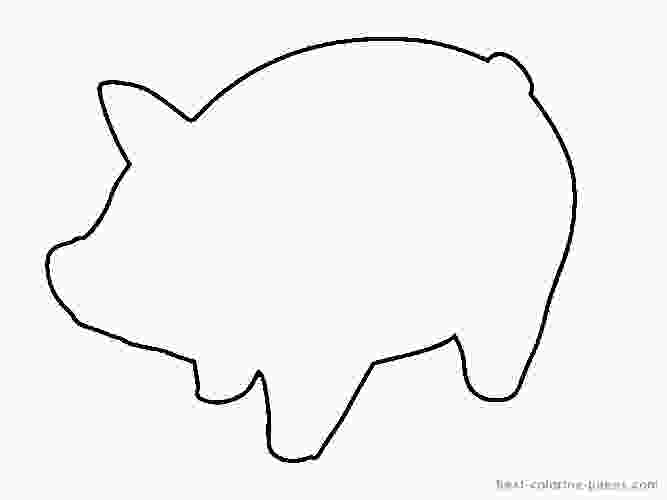 pig coloring template coloring page template category page 3 urlsparkcom