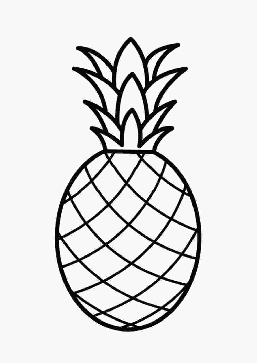 pineapple colouring picture pineapple coloring page only coloring pages