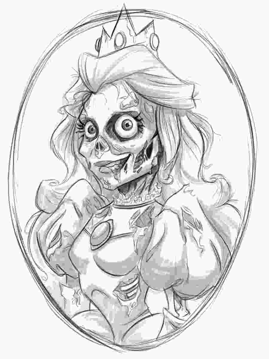 princess drawings the art of amanda dockery princess peach zombie wip d