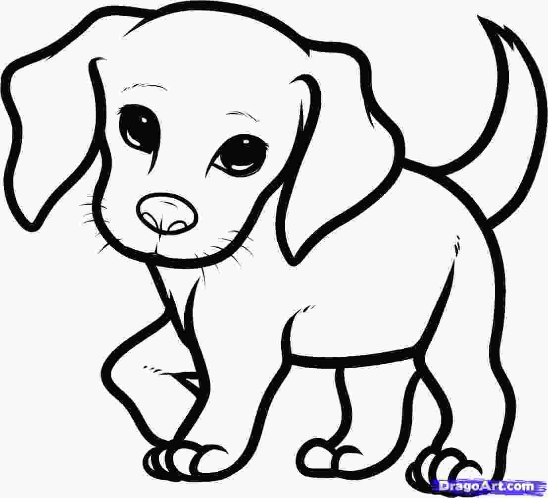 realistic cute dog coloring pages how you draw a cute dog how to draw a beagle puppy