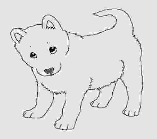 realistic cute dog coloring pages printable siberian husky coloring pages coloringsnet