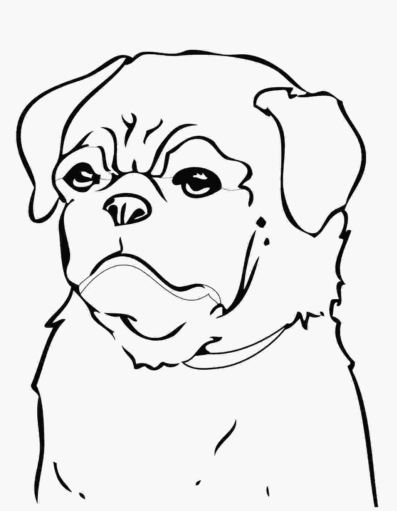 realistic cute dog coloring pages pug coloring pages to download and print for free