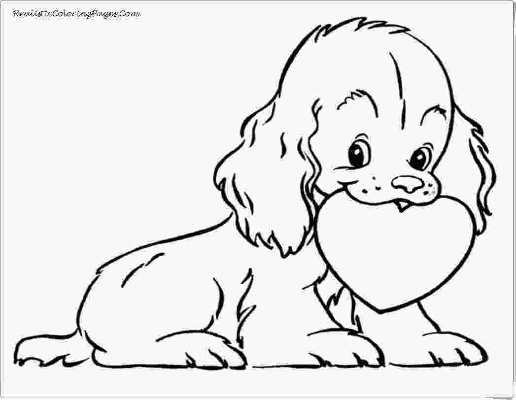 realistic cute dog coloring pages valentine animal coloring pages realistic coloring pages