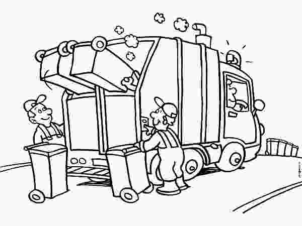 recycling truck coloring page garbage truck daily activity coloring pages download