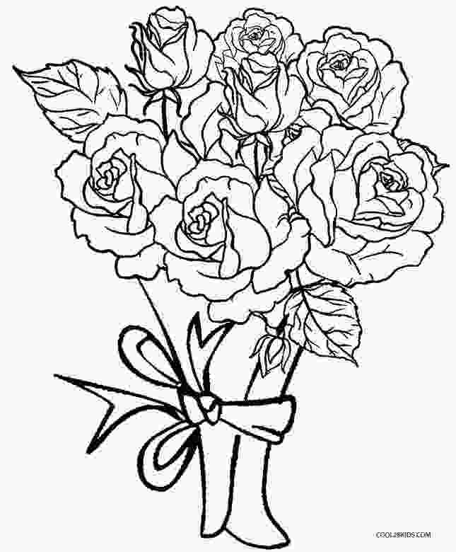 rose coloring pictures printable printable rose coloring pages for kids cool2bkids