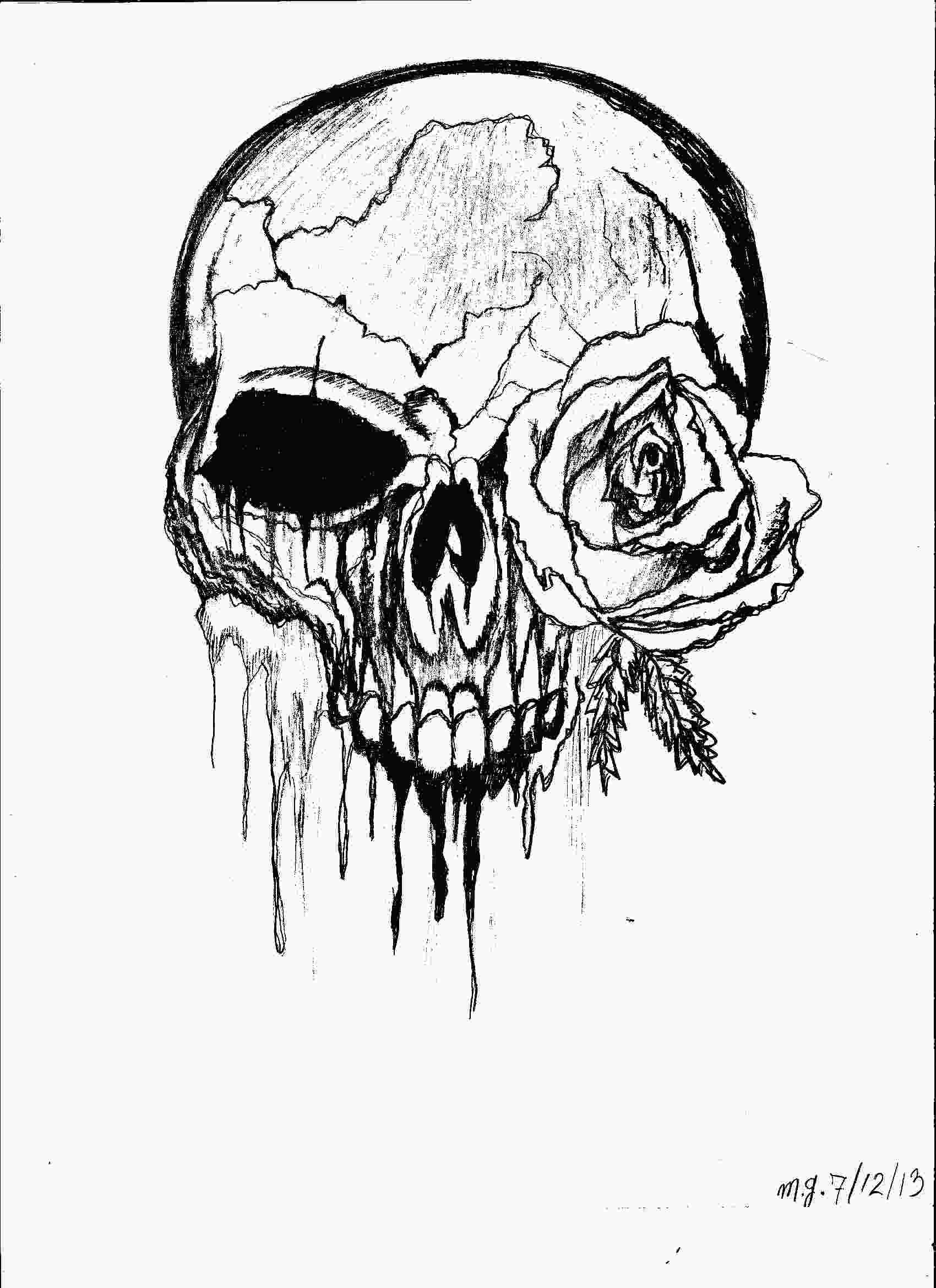 rose graffiti coloring pages gothic artistic imagination