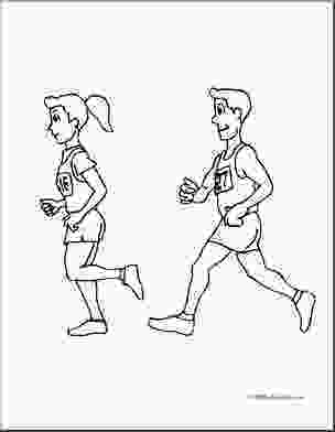 running coloring pages clip art kids running a race coloring page i abcteach