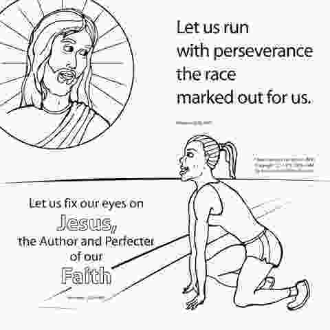 running coloring pages let us run the race bible coloring card by memory cross