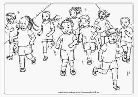 running coloring pages running race colouring page