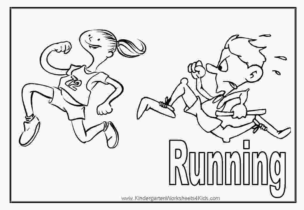 running coloring pages sport coloring pages