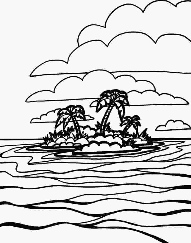 sea view coloring pages free printable ocean coloring pages for kids