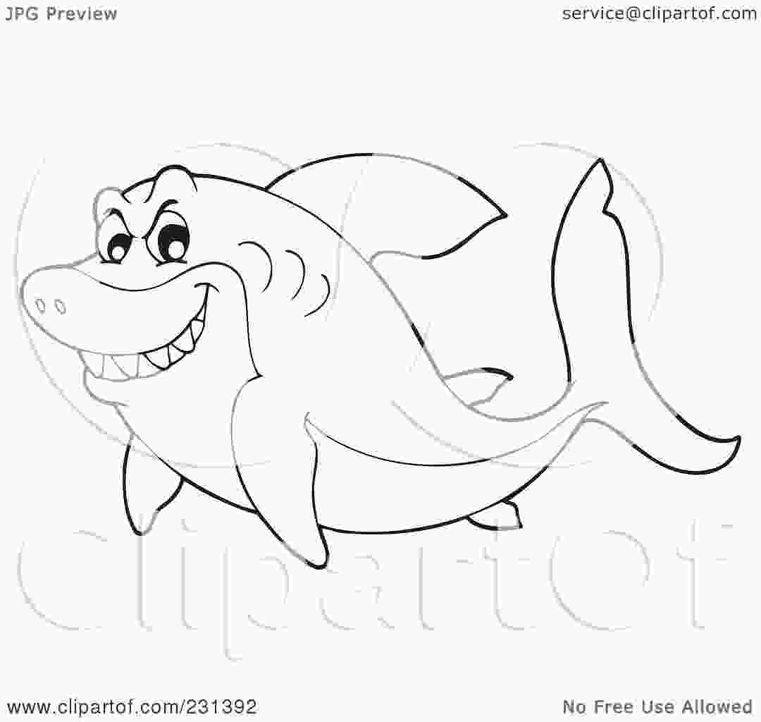 shark outline coloring page royaltyfree rf clipart illustration of a coloring page